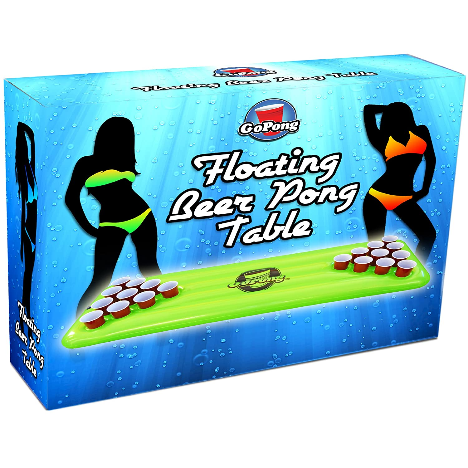 Inflatable Table Amazoncom Gopong Pool Pong Table Inflatable Floating Beer Pong