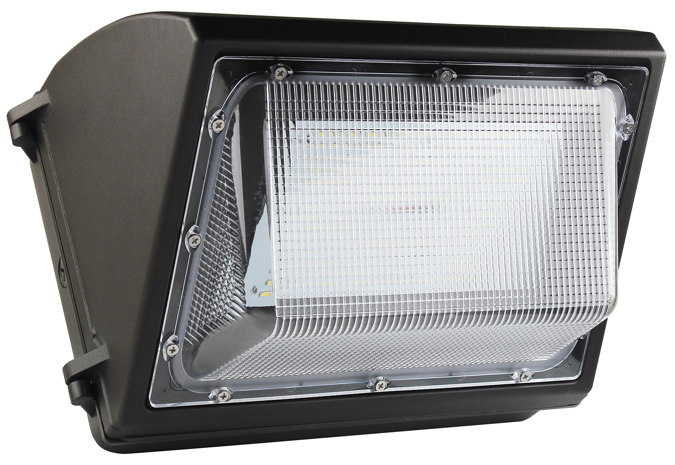 80 Watt LED Wall Pack Light - 10400 Lumens- High Efficiency 130 Lumen to Watt- DLC Premium Listed - Wall Pack LED -5000K Bright White - Replaces 250watt Metal Halide HPS
