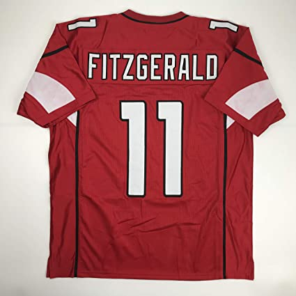 a1b376852 Unsigned Larry Fitzgerald Arizona Red Custom Stitched Football Jersey Size  Men's XL New No Brands/