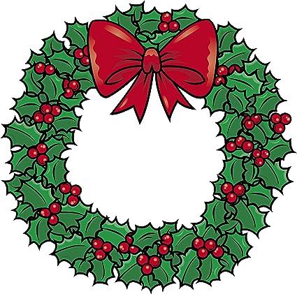 Amazon Com Simple Traditional Christmas Holiday Holly Wreath