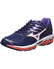 Mizuno Women's Wave Paradox 4 Shoes, Patriot Blue/White/Hot Coral