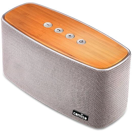 13 opinioni per Altoparlante Esterno 30W, COMISO Altoparlante Bluetooth 4.1 Wireless Bamboo Casa