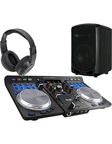 DJ Starter Pack from EOS Supply w/Hercules DJ Controller, Headphones and Speaker