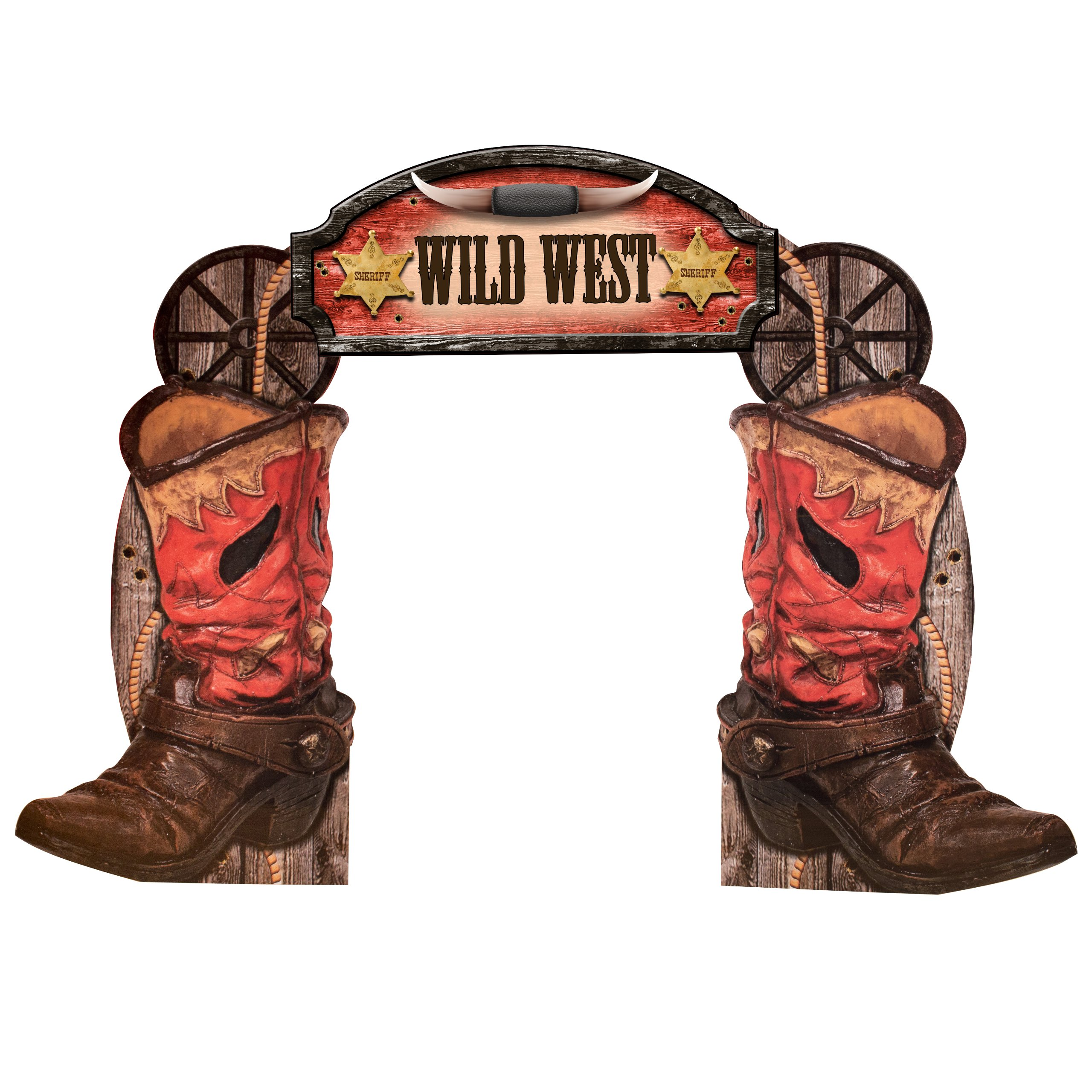 Western Boot Arch Party Prop Standee by Shindigz by Shindigz