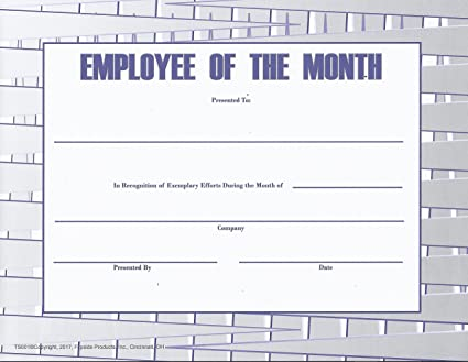 amazon com employee of the month certificate titanium series