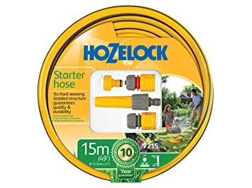 Hozelock 7215 9000 - Manguera de jardín, color amarillo: Amazon.es: Jardín