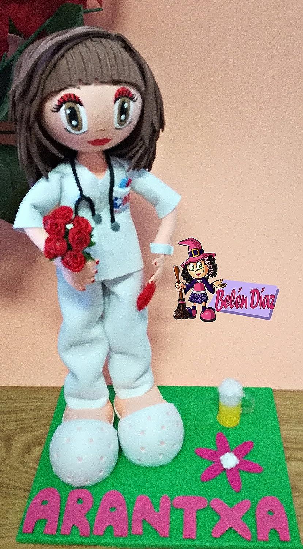 Fofucha Enfermera personalizada. Handmade fofuchas
