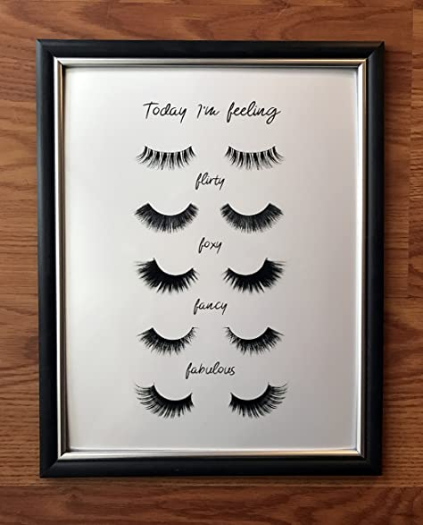 ... Unique Artwork Gift Idea for Her, Dorm Decor Design, Fashion, Eyelash Artist, Girls Bedroom, Flirty, Foxy, Fancy, Fabulous, Metallic Mascara: Posters ...
