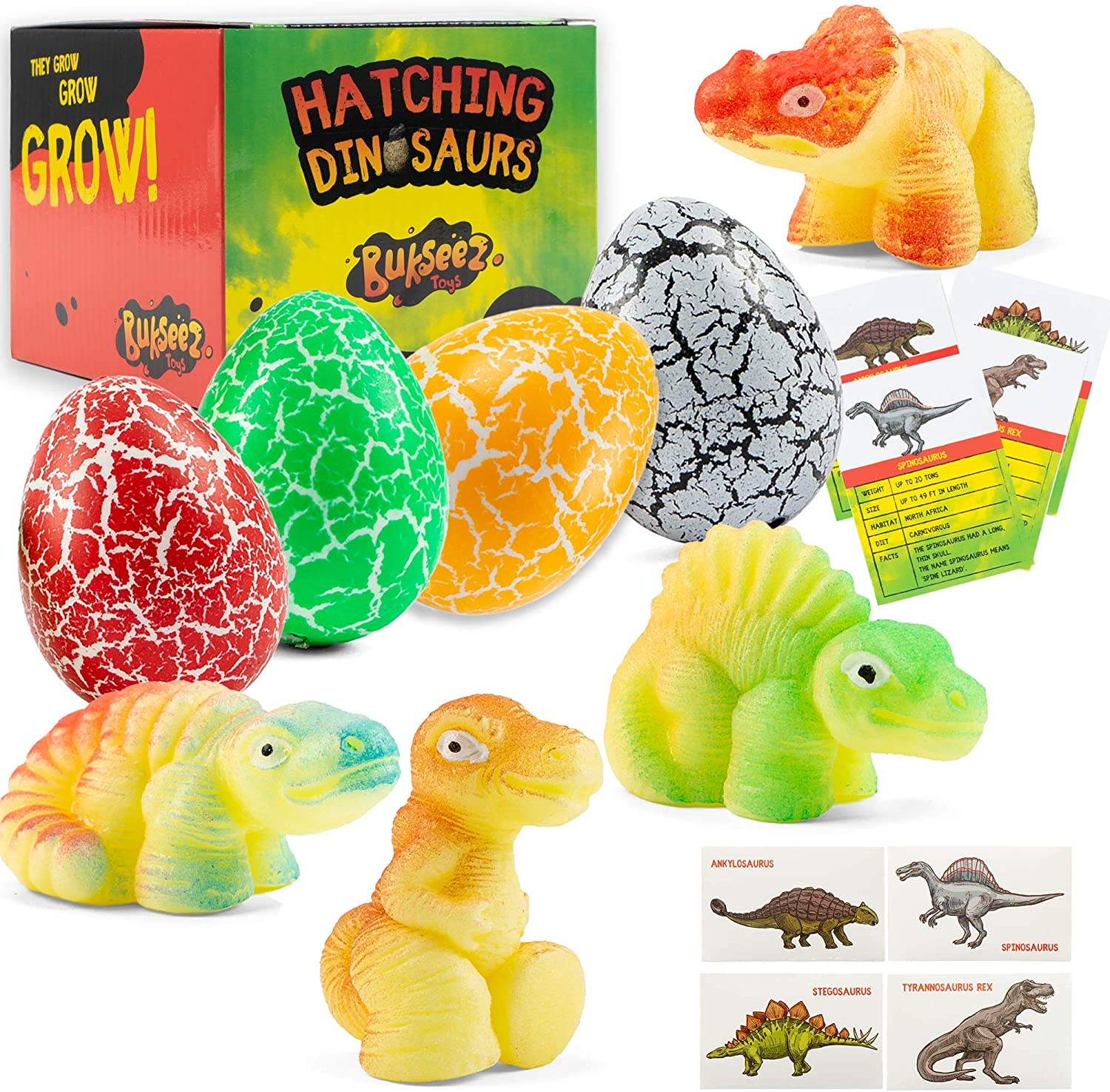 5 pcs Magic Dinosaur Eggs Hatching Dino Growing Cute Children Kids Toys Gift