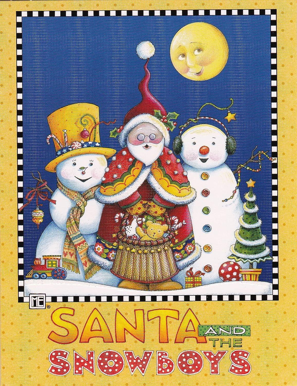 Amazon.com: Mary Engelbreit Christmas Cards Santa and the Snowboys ...