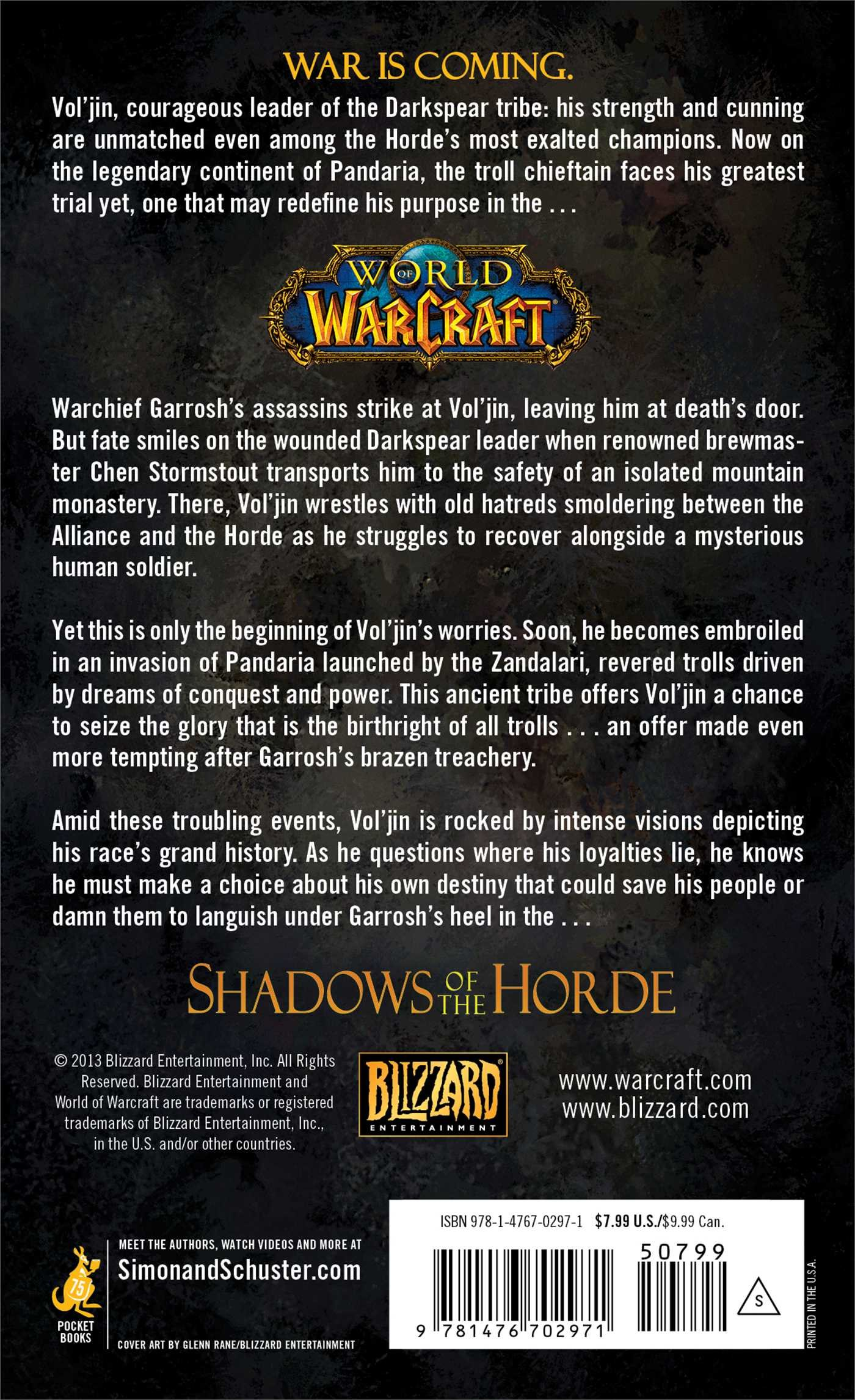 World Of Warcraft: Vol'jin: Shadows Of The Horde: Michael A Stackpole:  9781476702971: Amazon: Books