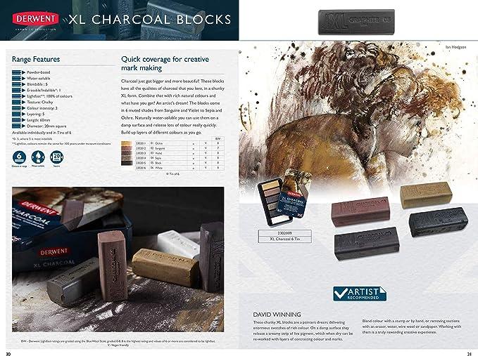 Derwent XL Charcoal Block Ochre