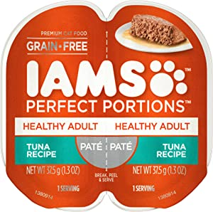 IAMS Perfect Portions, Cuts in Gravy and Pate, Grain Free Adult Wet Cat Food (24 Twin Packs)