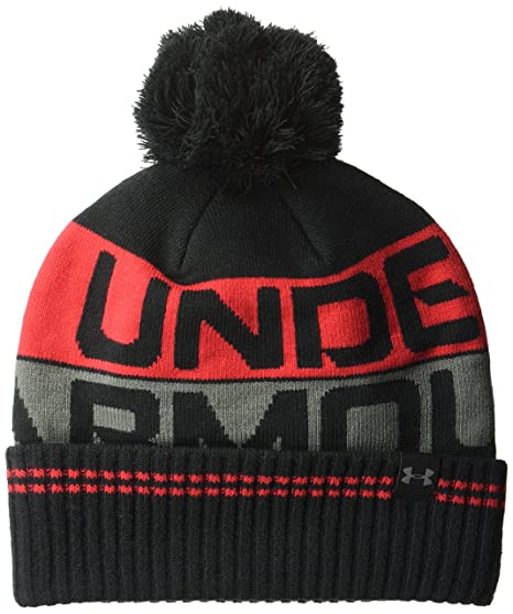 quality design 388c0 61532 Under Armour Men s Retro Pom 2.0 Beanie, Black Red, One Size