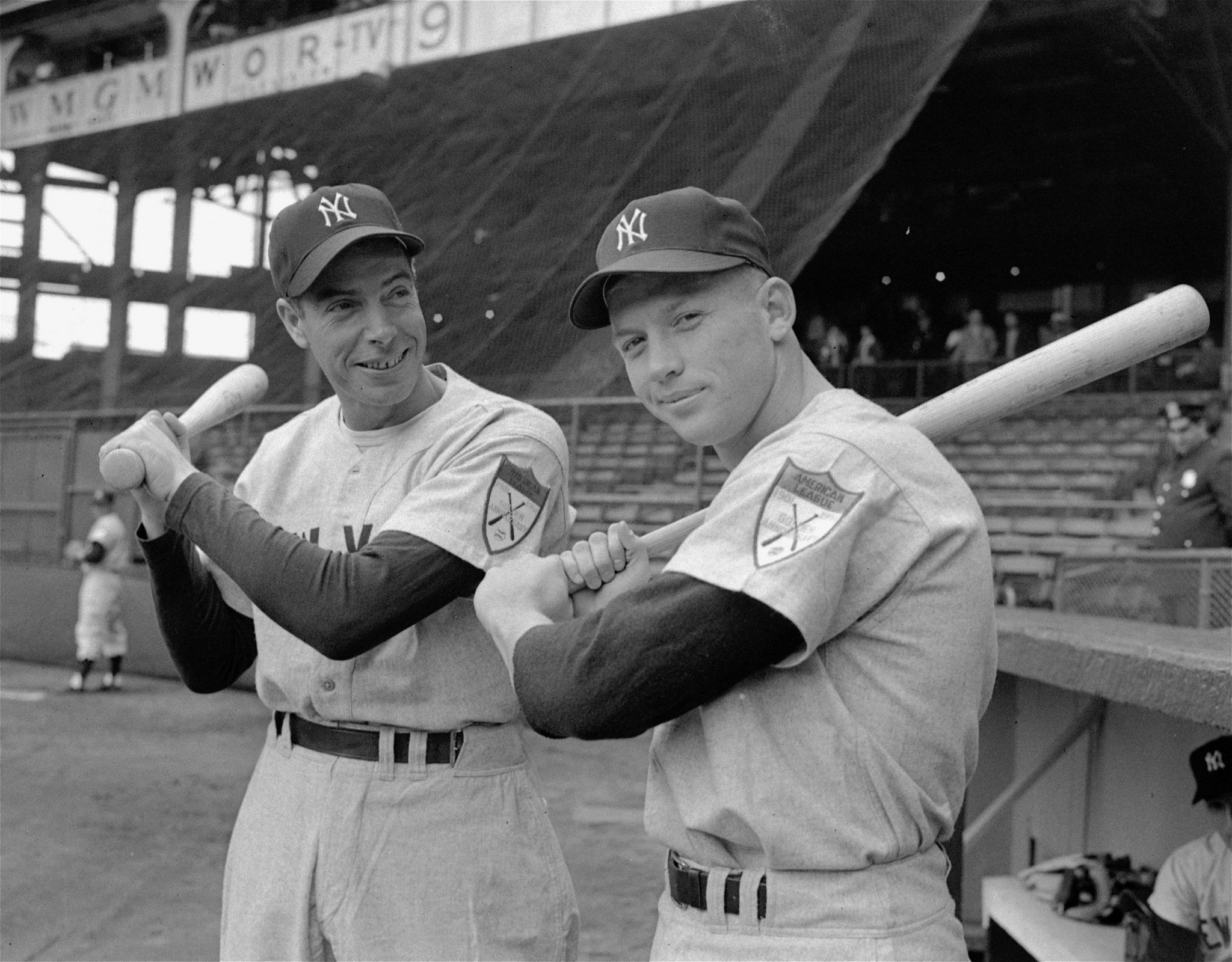 Joe DiMaggio Mickey Mantle Photo Art New York Yankees Baseball Photos Artwork 8x10