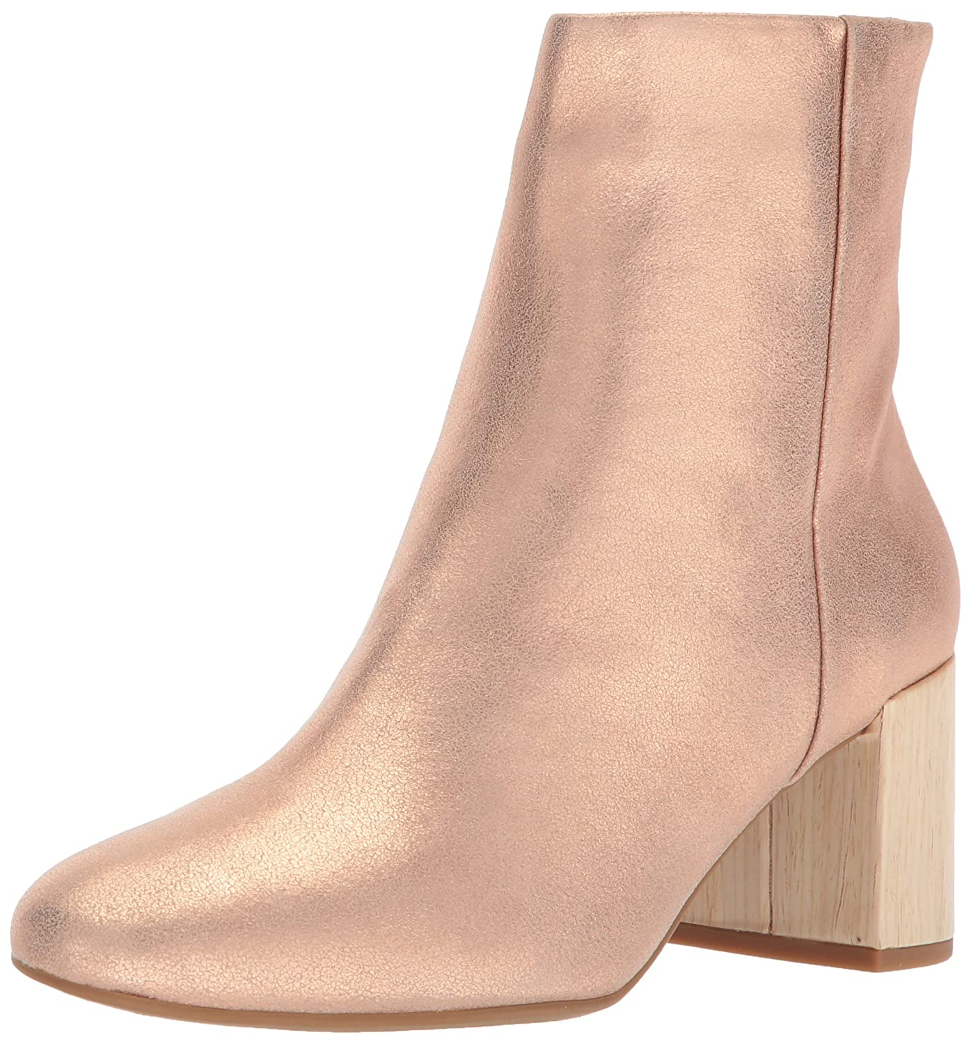 Taryn Rose Women's Cassidy Powder Metallic Ankle Boot B074B5F6HV 11 M M US|Open Pink
