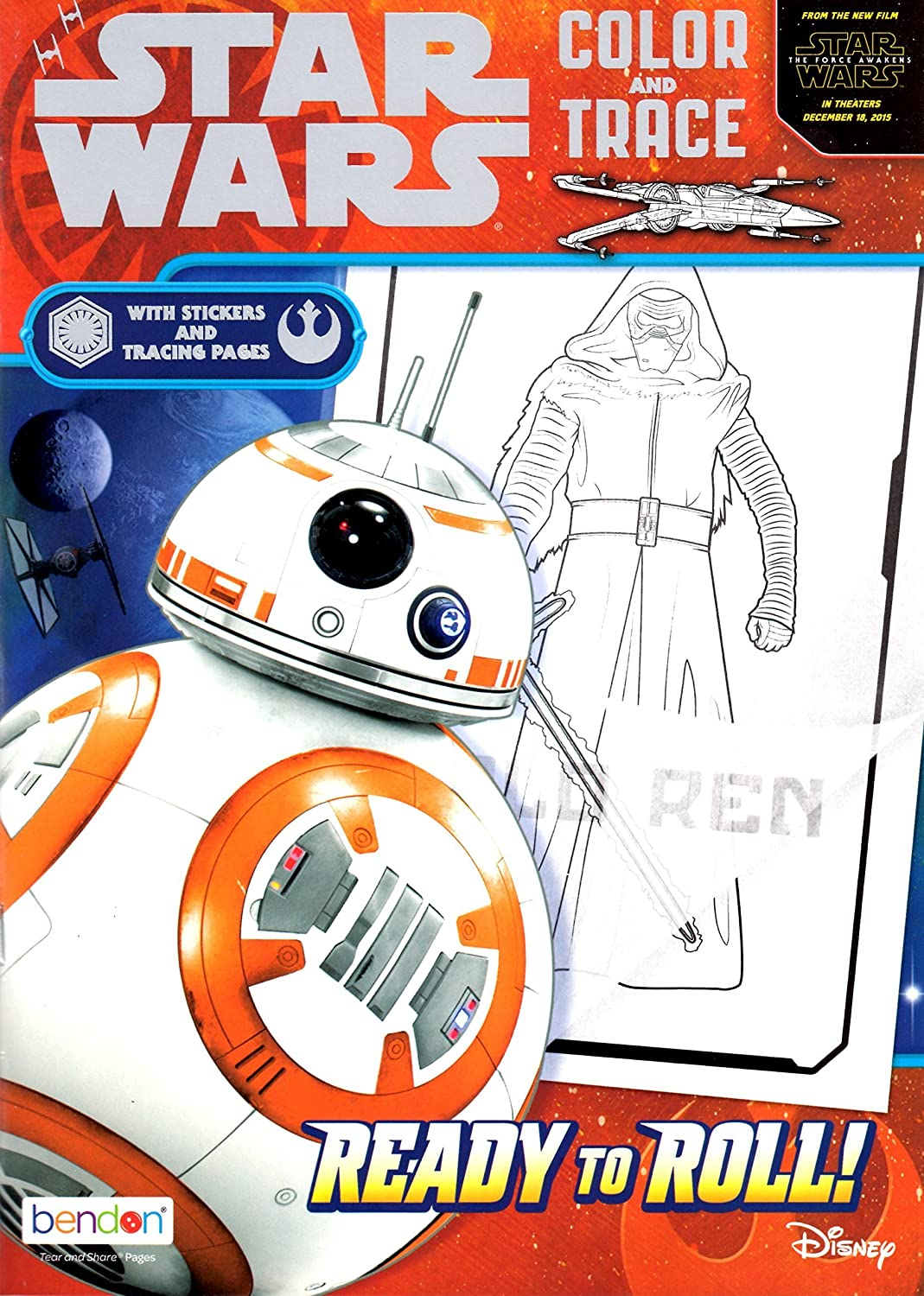 Set of 2 Star Wars Ultimate Paint Box /& Color and Trace Activity Book Rule The Galaxy 92 Total Pages W//34 Stickers and 16 Water Color Paints