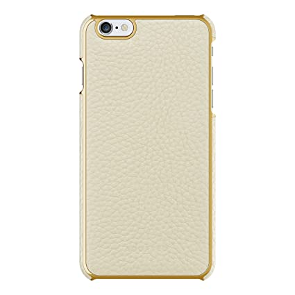 the latest 7b654 81247 Adopted Leather Wrap Case for Apple iPhone 6 Plus/6s Plus, White/Gold