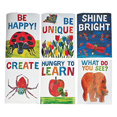 Fun Express - World of Eric Carle Motivational Poster - Educational - Classroom Decorations - Classroom Decor - 6 Pieces: Toys & Games