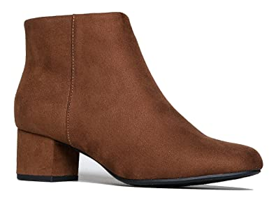 438963a56 Amazon.com | J. Adams Low Heel Ankle Boot - Casual Zip Up Bootie ...