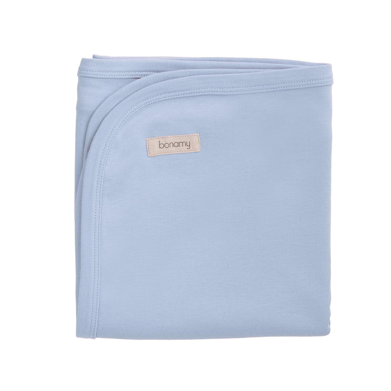 bonamy Baby Organic Cotton Receiving Blanket-Newborn Boys and Girls Large and Warm Swaddling Blanket