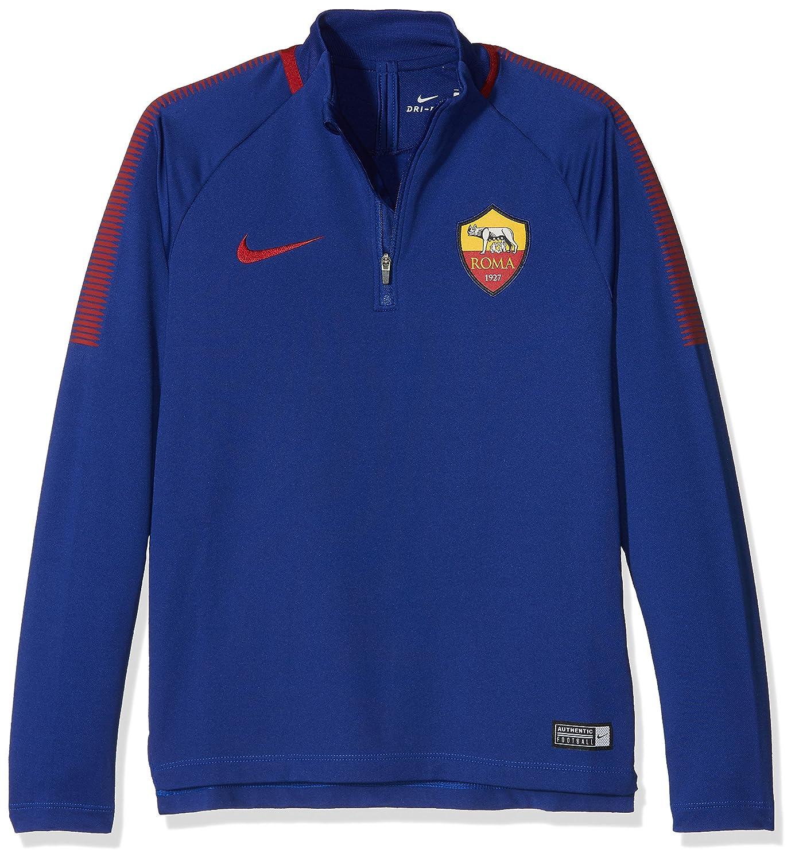 Nike - Y Nk Dry Sqd Dril - Sudadera Infantil del Roma, niño, Roma Y Nk Dry Sqd Dril, BLU Royal/Giallo/Rosso, Small: Amazon.es: Deportes y aire libre