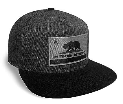 12e42794150 Strange Cargo California State Flag Dark Grey and Black Flat Brim ...