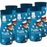 6-Pack Gerber Puffs Apple Cinnamon Cereal Snack, 1.48 Ounce