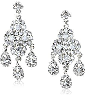 Amazon.com: Nina Thalia Multi-Shape Cubic Zirconia Drop Earrings ...