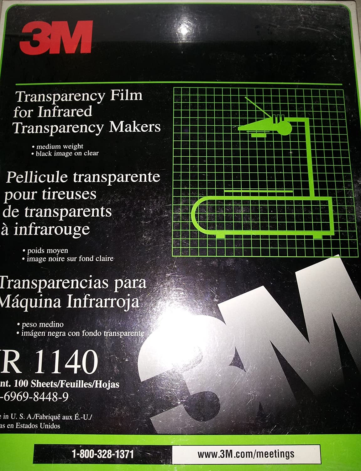 Amazon.com: 3M Transparency Film For Infrared Transparency Makers: Office Products