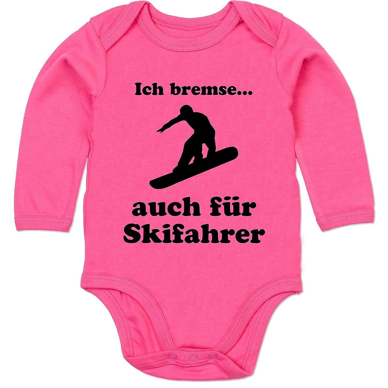 Sport Baby - Snowboard - Ich bremse auch für Skifahrer - Baby Strampler aus organischer Baumwolle für Mädchen und Jungen