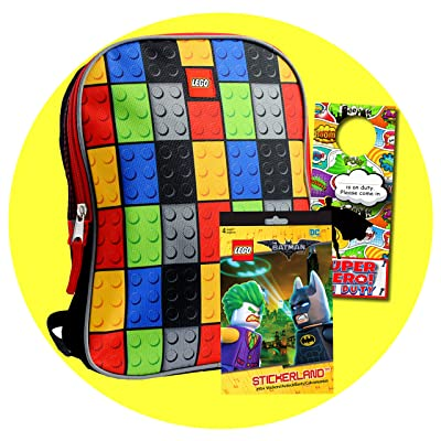 Lego Toddler Preschool Backpack Set - Bundle Includes 11 Inch Lego Mini Backpack, Lego Batman Stickers and More: Clothing