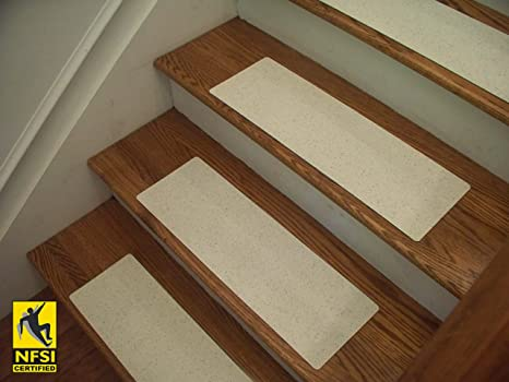 Essential Vinyl Stair Tread Sets   NFSI Certified High Traction Surface  (Slip Resistant),