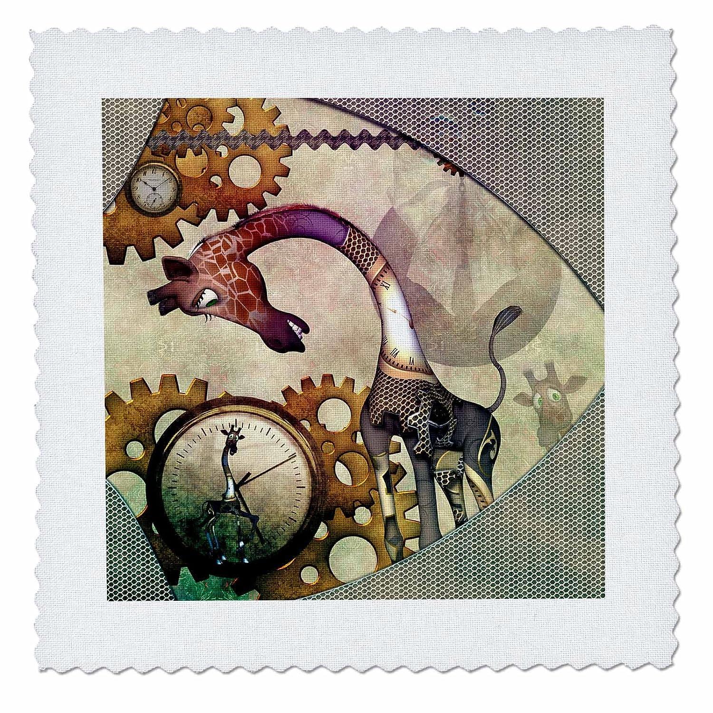 3dRose qs/_262394/_1 Steampunk Horse on The Beach Quilt Square 10 x 10
