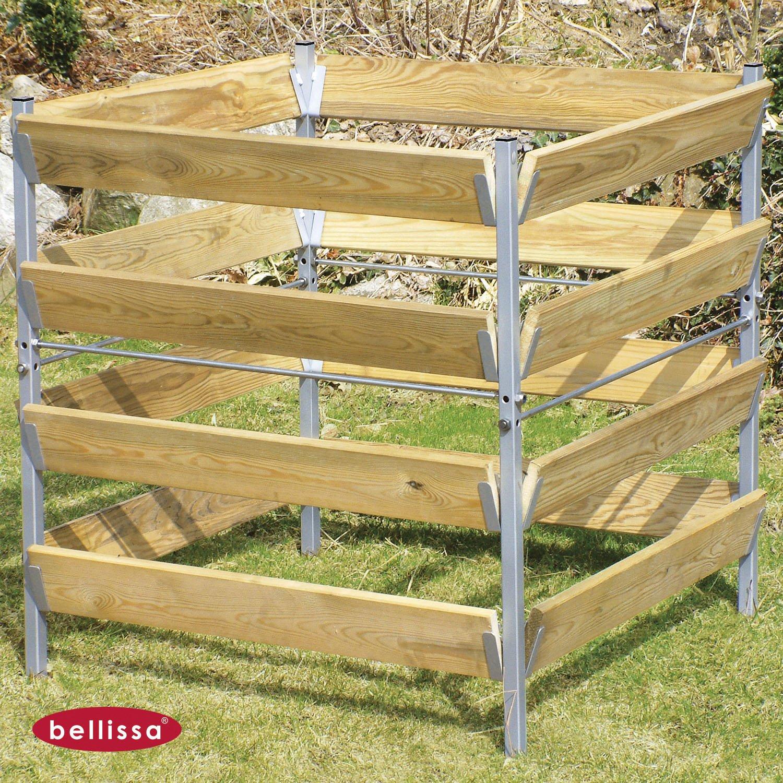 Komposter Holz/Metall 90x90x90 cm 99160