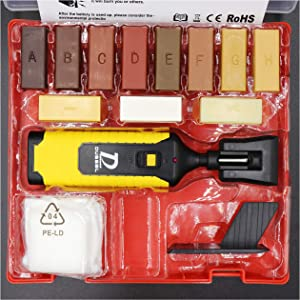 Wood Scratch Repair Kit Include 11 Color Wax Suitable for Repairing Furniture Surface, Laminate Floor(Battery Not Include)