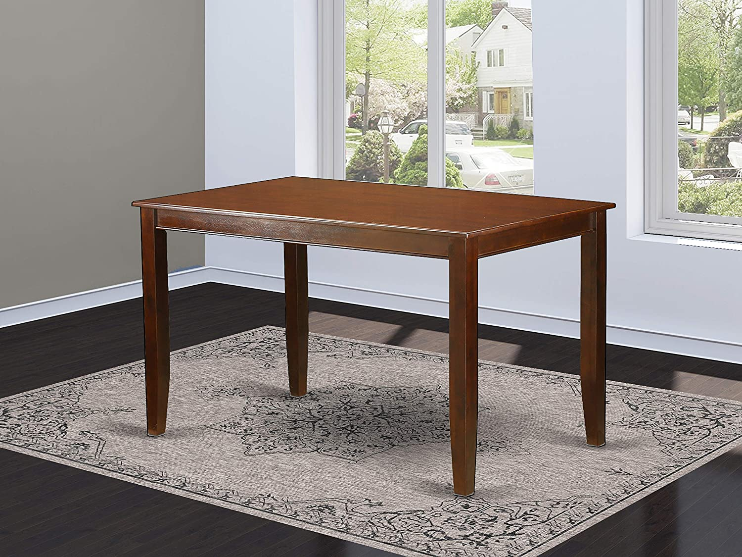 Dudley Rectangular Counter Height Dining Table 36 x60 in Mahogany Finish