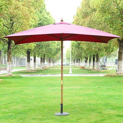 Sombrilla Tipo Parasol para Terraza y Jardín Estructura de Madera Medidas: 200 x 300 x 250cm: Amazon.es: Jardín