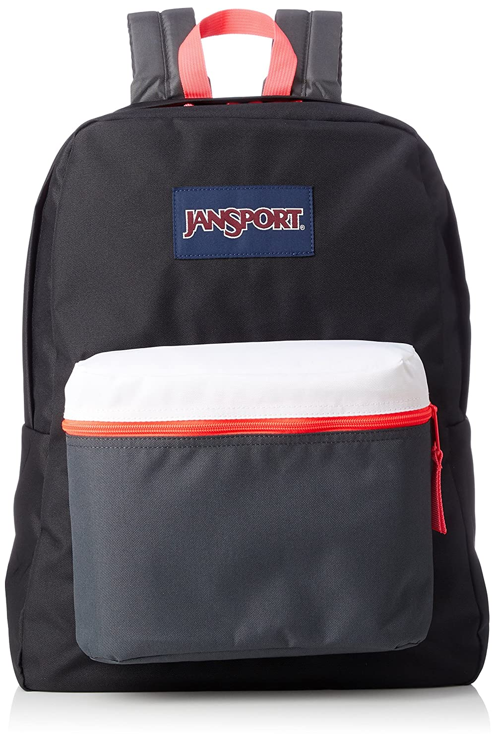 22e338636 Amazon.com | JanSport Exposed Backpack - Black/Fluorescent Red | Casual  Daypacks