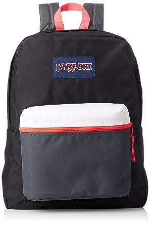 JanSport Exposed Backpack - Black/Fluorescent Red