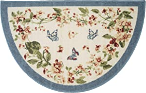"""Brumlow Mills Butterfly Fields Floral Rug for Kitchen, Living Room, Doormat or Entryway Area, 19"""" x 31"""""""