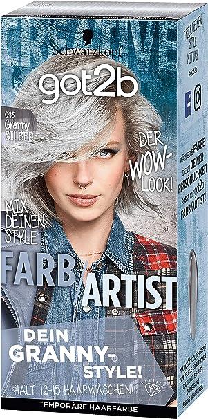 Schwarzkopf Got2b Farb Artist Haarfarbe 098 Granny Silber 3er