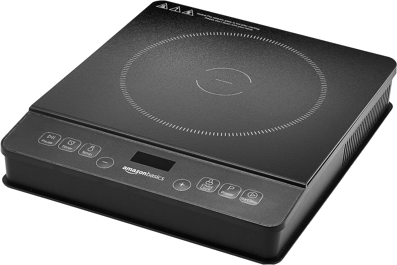 Amazon.com: AmazonBasics 1800W Placa de inducción portátil ...