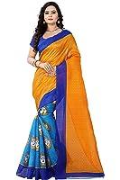Aaradhya Fashion Women's Bhagalpuri Pritnted Kalamkari Saree