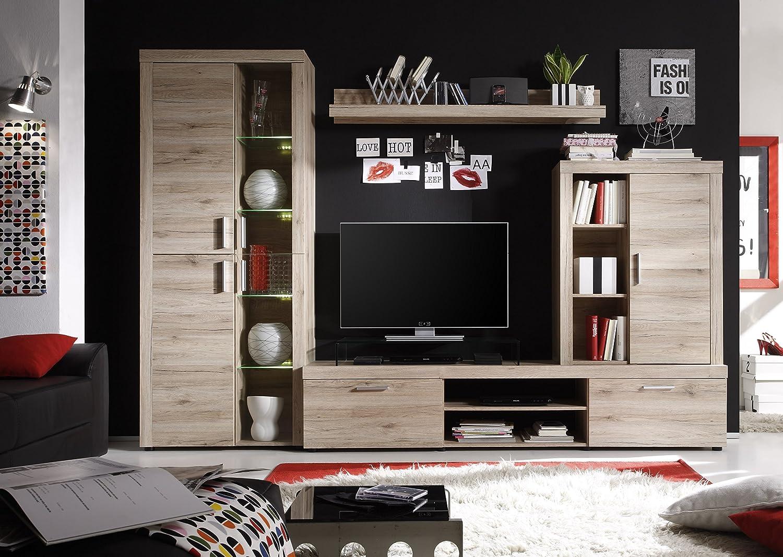 Trendteam Smart Living Wohnzimmerschrank, Eiche San Remo Hell, 285 X 193 X  41 Cm: Amazon.de: Küche U0026 Haushalt