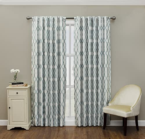 ECLIPSE Dixon Thermal Insulated Single Panel-Rod Pocket Darkening Curtains for Living Room, 52 x 84 , Robins Egg Blue