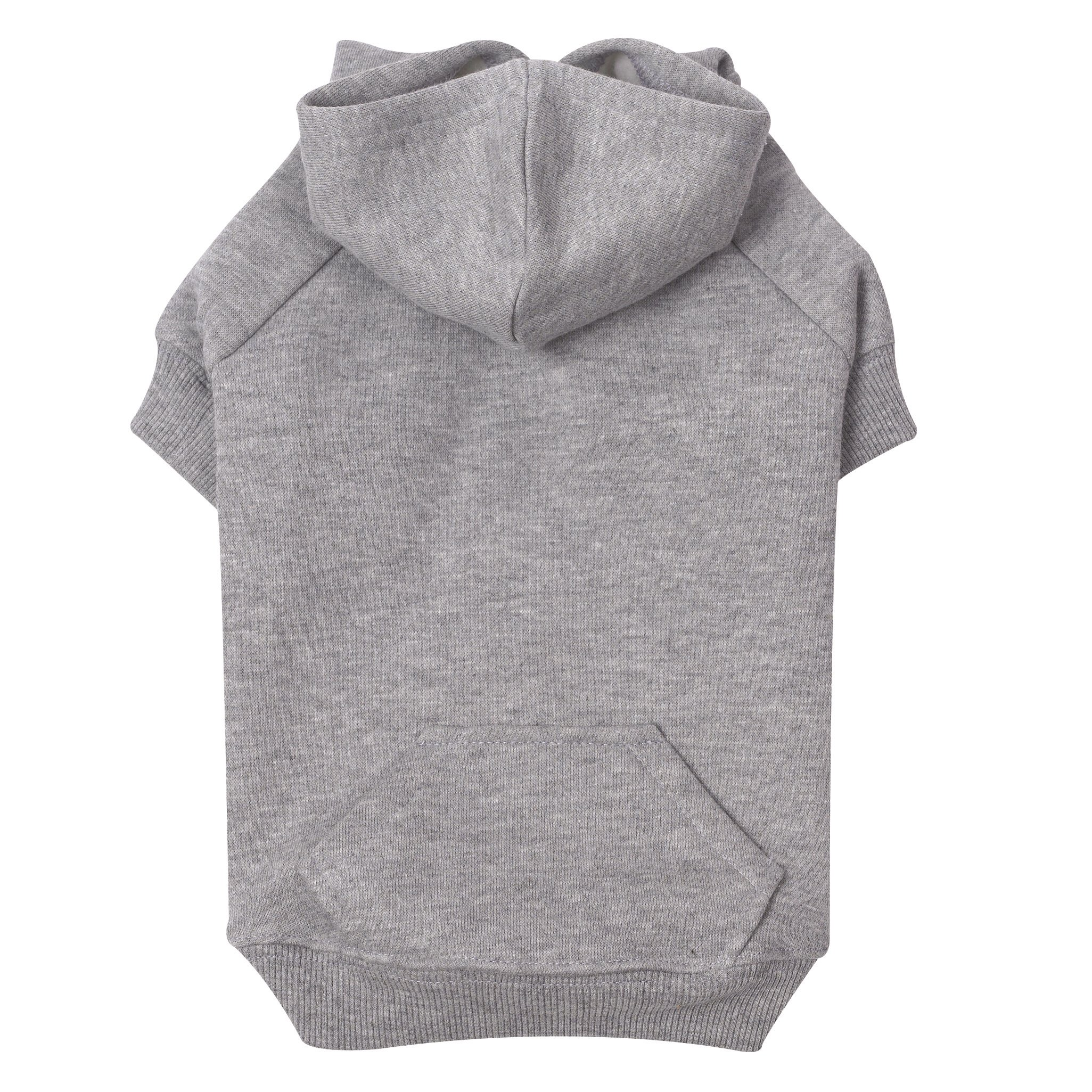 Zack & Zoey Basic Hoodie for Dogs, 12'' Small, Heather Gray