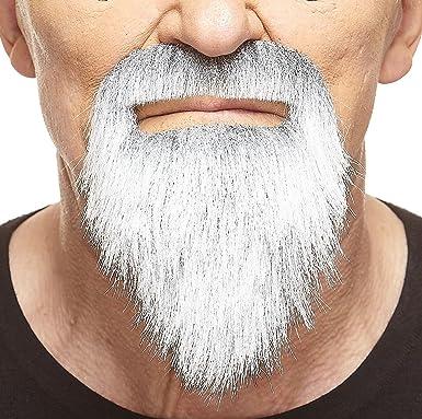 Fake Beard False Facial Hair Gray With White Mustaches Self Adhesive Novelty