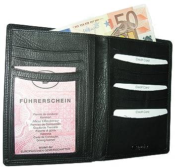 Esquire Duo Portefeuille Étui pour carte d identité Porte-badges en cuir  noir cbece0b02da