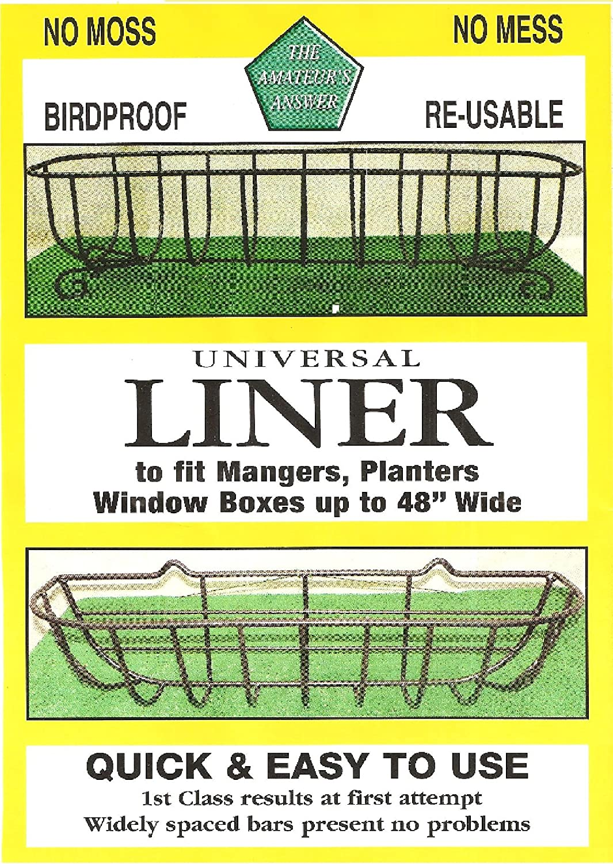 UK Fabriqué jute panier suspendu JARDINIERE Liner Insert 4 x 18 in environ 45.72 cm